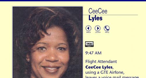 11 settembre: la misteriosa telefonata dell'assistente di volo CeeCee Lyles